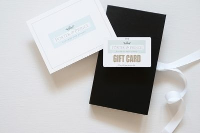 Gift Card Packaged in Beautiful Black Gift Box
