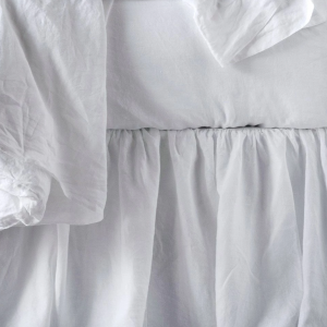 Gathered Linen Panel Bedskirt by Bella Notte
