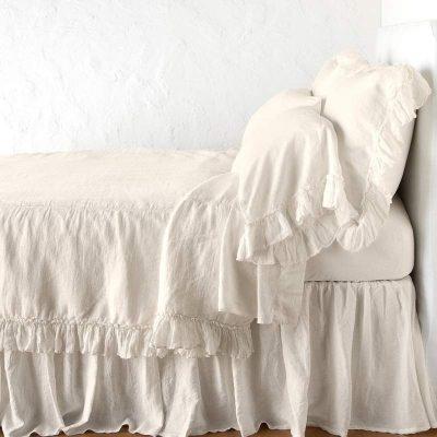 Whisper Linen Duvet  and Shams by Bella Notte
