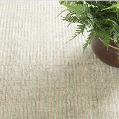 Cut Stripe Ocean Hand Knotted Rug by Dash and Albert