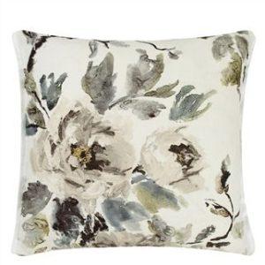 Shanghai Garden Ecru Linen Throw Pillow by Designers Guild