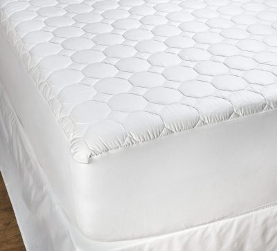 Honeycomb Quilted Cotton Filled Mattress Pad