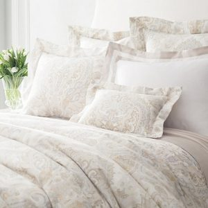 Lorenzo Paisley Semolina / Zinc Duvet and Shams by Annie Selke Luxe