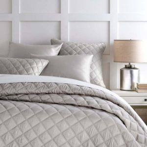 Quilted Silken Solid Coverlet and Shams by Pine Cone Hill
