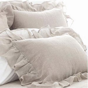 Linen Mesh Shams and Bedskirt by Pine Cone Hill