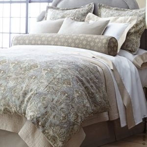 Baroque Linen Duvet Covers and Shams by Peacock Alley