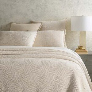 Kerala Ivory Matelasse Coverlets and Shams by Pine Cone Hill