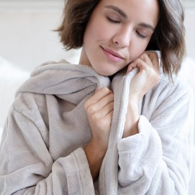 Luxe Fleece Hooded Robe by Pine Cone Hill