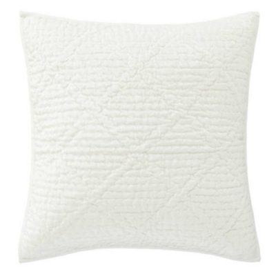 Dove White Velvet Parisienne Quilt and Shams by Pine Cone Hill
