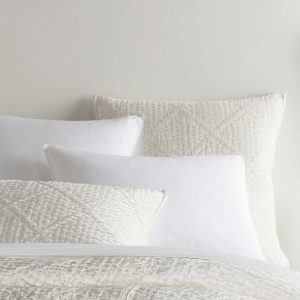 Dove White Velvet Parisienne Quilt, Shams by Pine Cone Hill