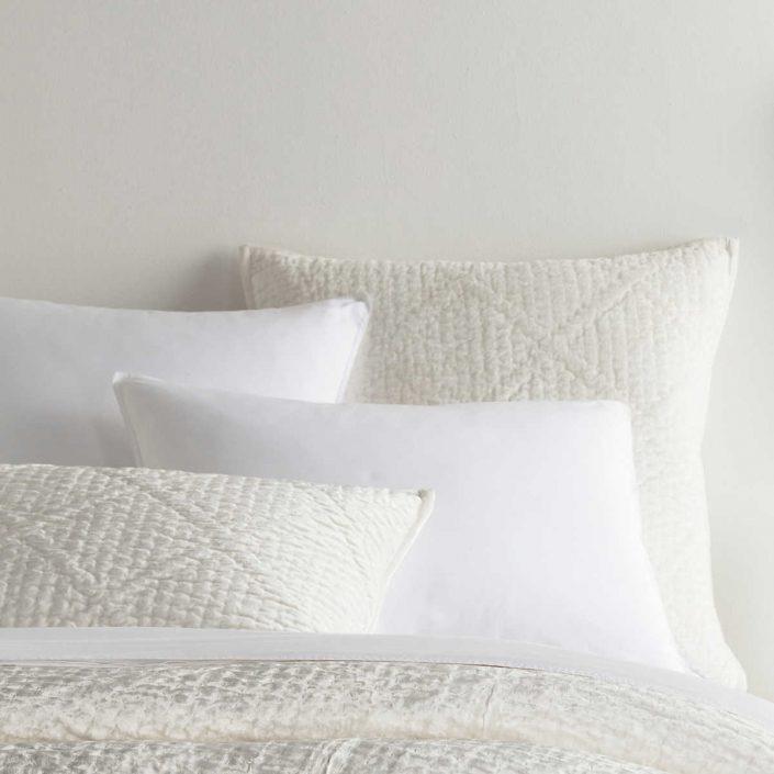 Dove White Velvet Parisienne Quilt, Shams by Pine Cone Hill