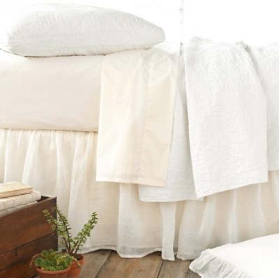 Savannah Linen Gauze Shams, Pillow and Bedskirt by Pine Cone Hill