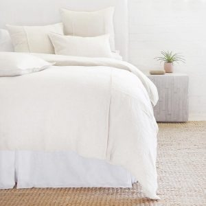 Louwie Cream Organic Linen Duvet and Shams by Pom Pom at Home
