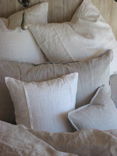 Louwie Cream Organic Linen Duvet and Shams by Pom Pom at Home