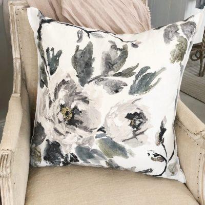 Shanghai Garden Ecru Linen Pillow by Designers Guild