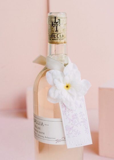 Relax Bubble Bath in Wine Bottle by Lollia