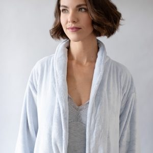 Frosted Fleece Long Robe by Pine Cone Hill
