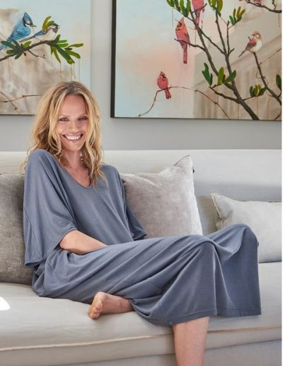 Luxe Milk Jersey Caftan by Barefoot Dreams