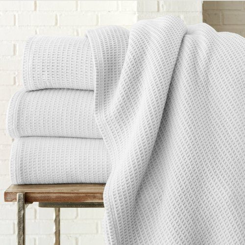Riviera Waffle Weave Blanket by Peacock Alley