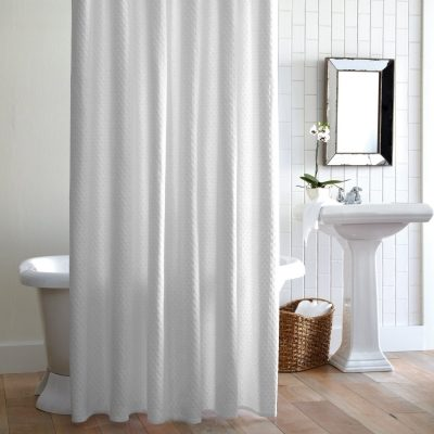 Alyssa Matelasse Shower Curtain by Peacock Alley