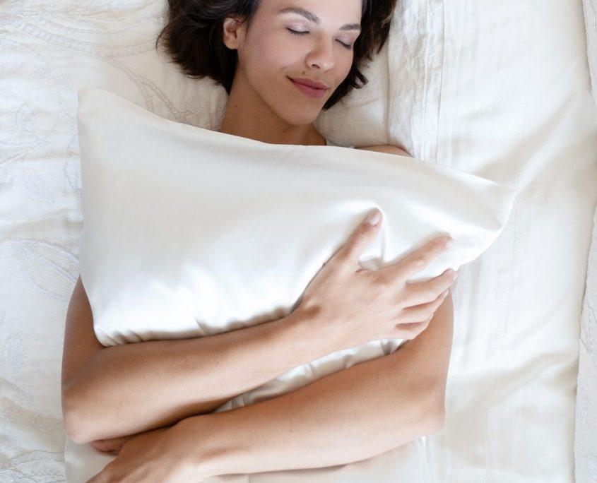 branche silk standard pillowcase white