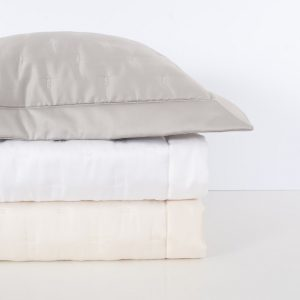 Quilted Sateen Fil Coupe Coverlet and Shams by Home Treasures