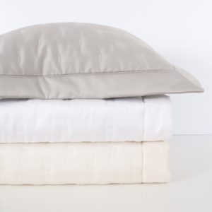 Quilted Sateen Fil Coupe Coverlet, Shams by Home Treasures