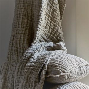 Dax Stonewashed Linen Throw, Shams