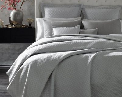 Nadia Matelasse Coverlets, Shams and Bed Skirts by Matouk