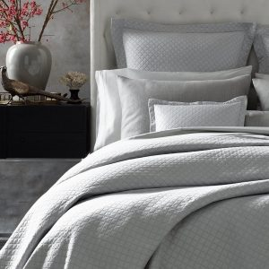 Nadia Matelasse Coverlets, Shams & Bed Skirts by Matouk