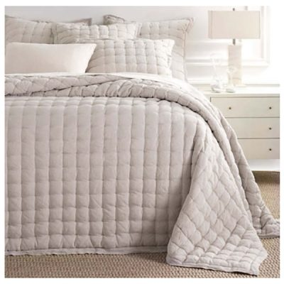 Lush Linen Puff Quilt, Shams by Pine Cone Hill