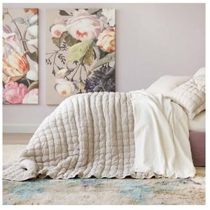 Lush Linen Puff Quilt & Shams by Pine Cone Hill