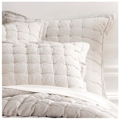Lush Linen Puff Quilt and Shams by Pine Cone Hill