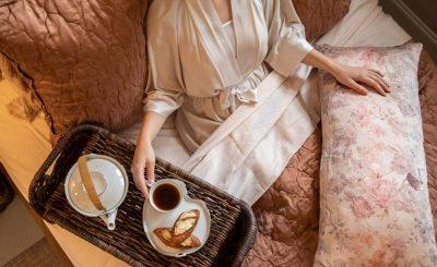 Woven Wicker Breakfast In Bed Tray