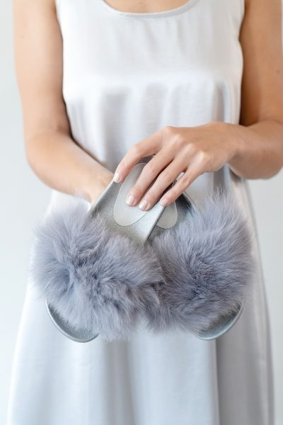 Fur Trimmed Slides by Branche