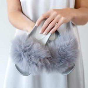 Fur Trimmed Slides by Branche