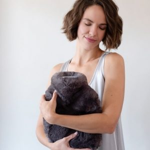 Luxurious Faux Fur Covered Hot Water Bottles by Evelyne Prelonge
