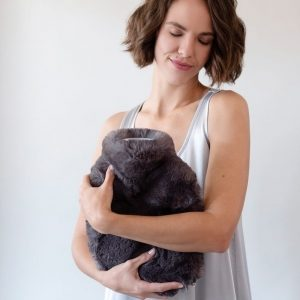 Luxurious Faux Fur Covered Hot Water Bottle by Evelyne Prelonge