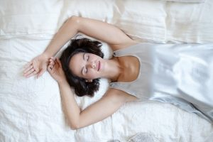 Jessica Satin Knee Length Nightie with Pleated Back by Pj Harlow