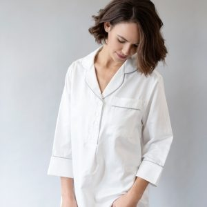 Silk Whispercale Sleep Shirt by Silk Story