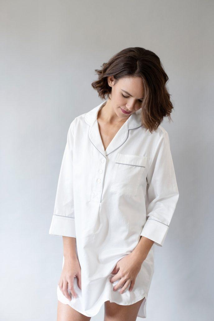 Silk Whispercale Sleep Shirt by Silk Story