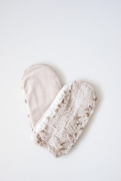 Spa Therapy Faux Fur Heatable Lavender Filled Hand Mitts