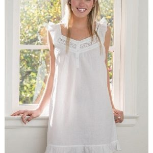 April White Cotton Nightgown