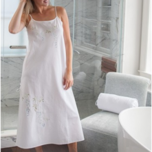 Jane White Cotton Nightgown
