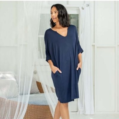 Luxe Milk Jersey Short Caftan by Barefoot Dreams