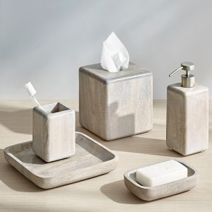 Fiji Mango Wood Bath Accessories Collection