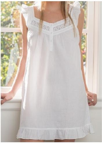 April White Cotton Nightgown