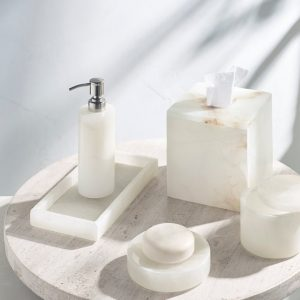 Alabaster Bath Accessories Collection