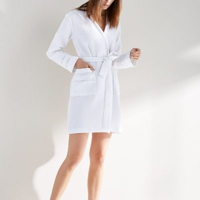 Alexandra Cotton Waffle Robe by Kassatex