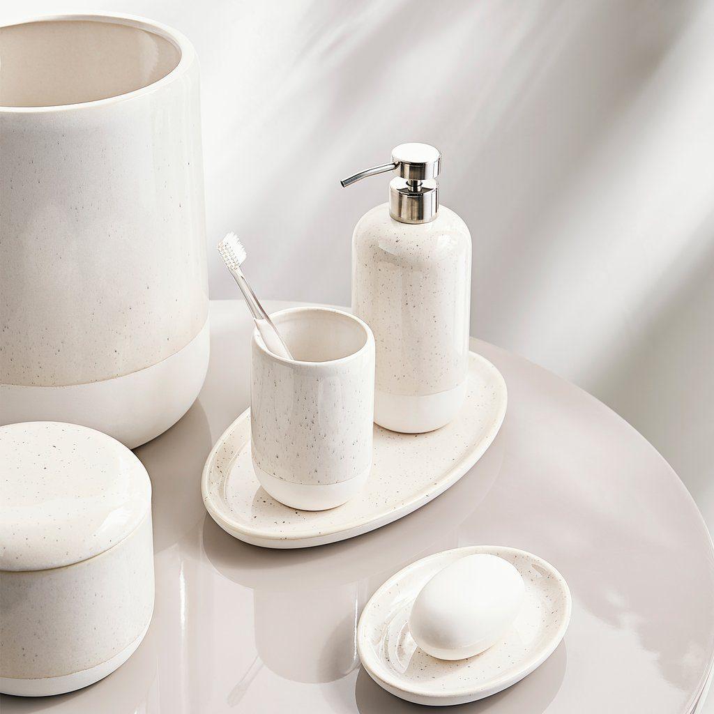 Culver Stoneware Bath Accessories Collection Porter Prince